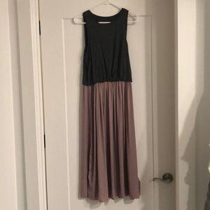BRAND NEW Loft grey and soft pink dress
